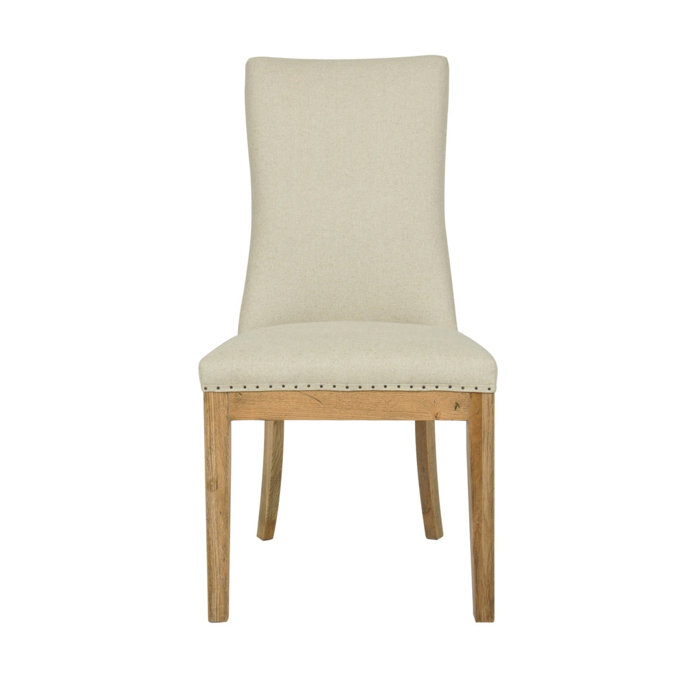 Roberts Linen Dining Chair Natural Pair