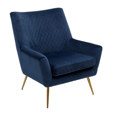 Layla Arm Chair Navy Velvet