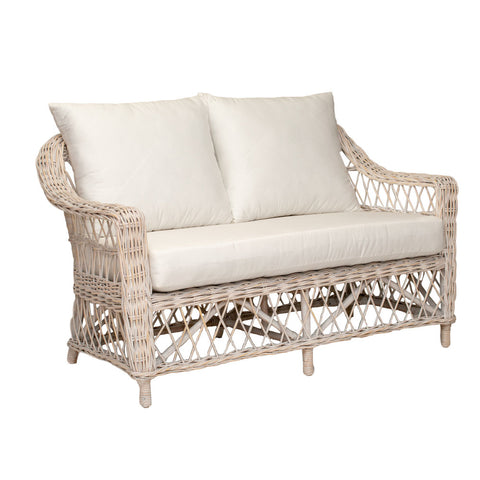 Cedros 2 Seat Sofa White Wash