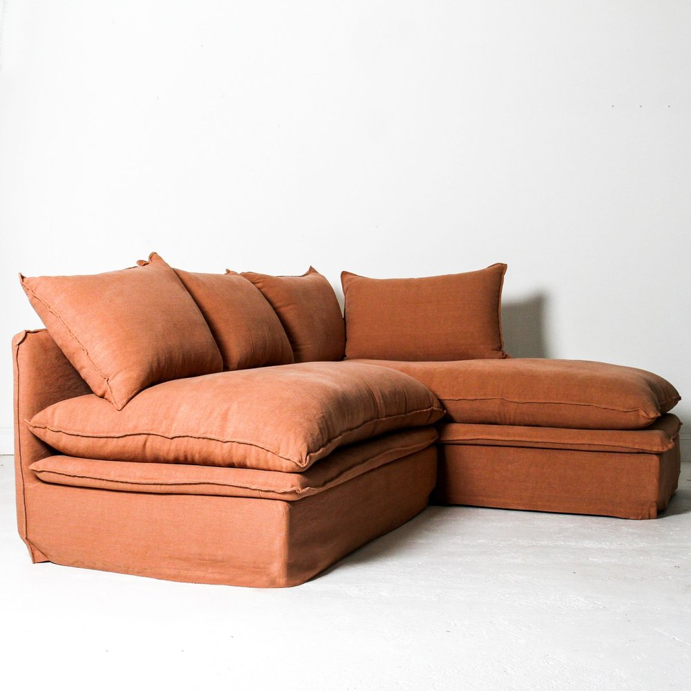 Sardinia 2 Piece Corner Sofa Burnt Orange