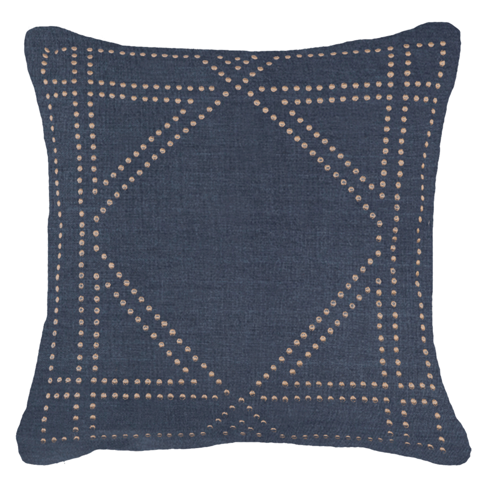 Dot Frame Navy Cushion