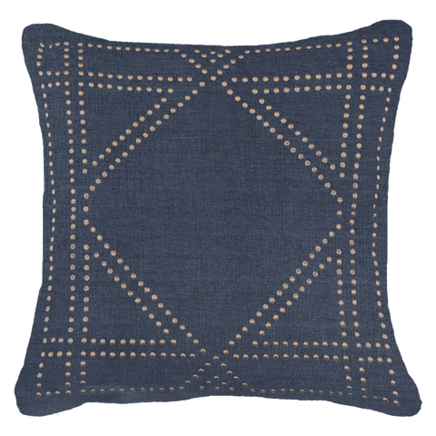 Diamond Dot Navy Cushion