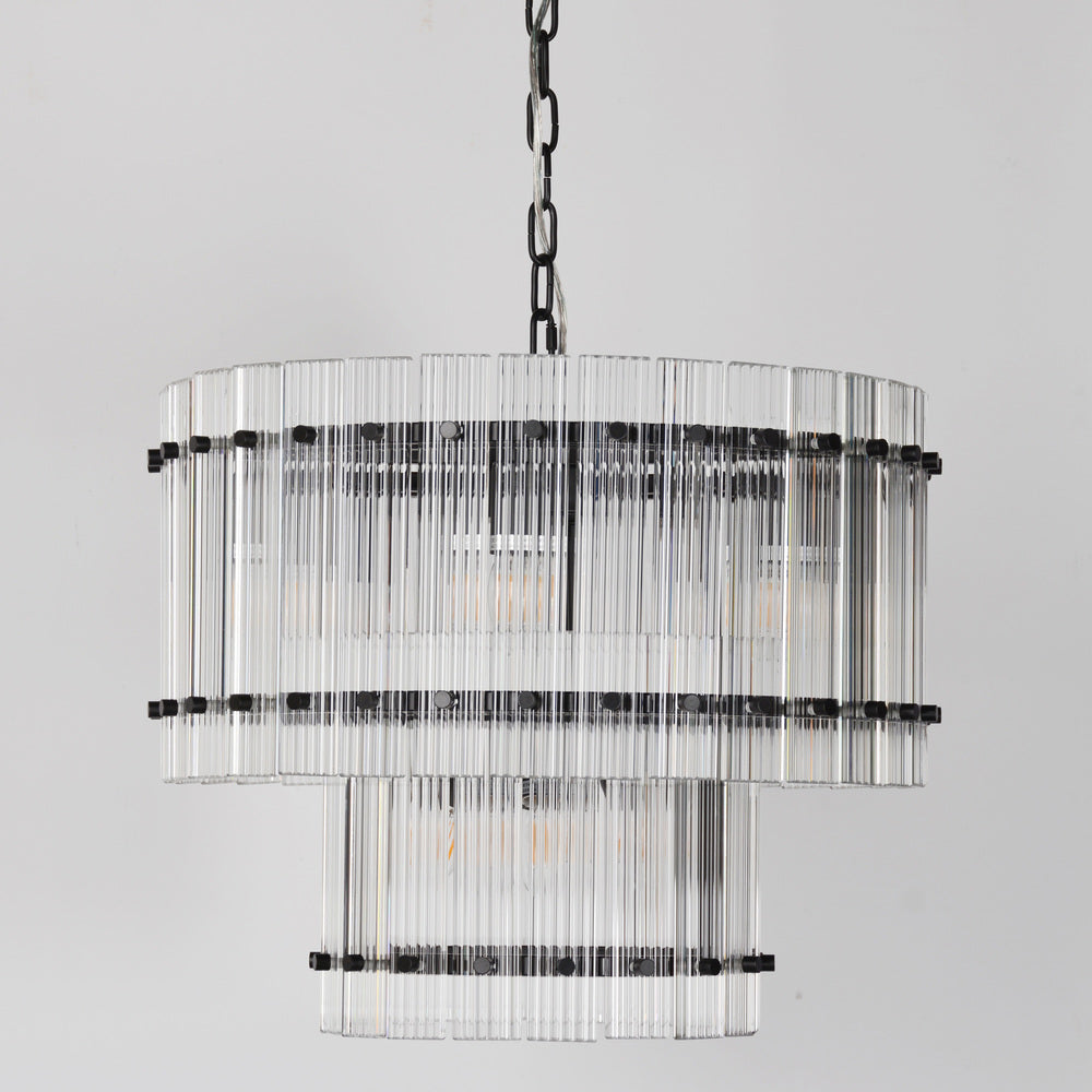 Carlos Chandelier 2 Tier Black