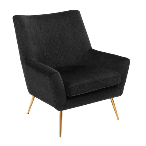 Layla Arm Chair Black Velvet