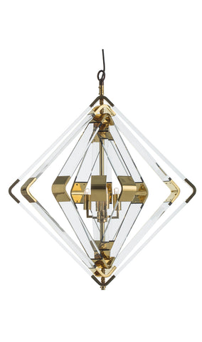Nickel Hanging Dome Pendant Large