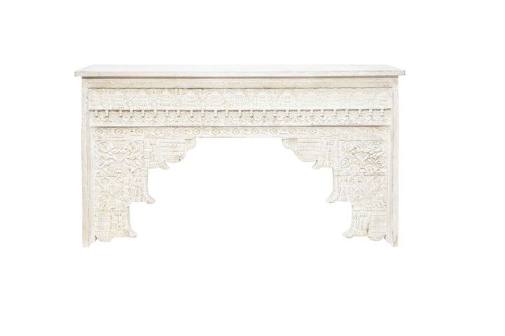 Jaja Console Table Distressed White