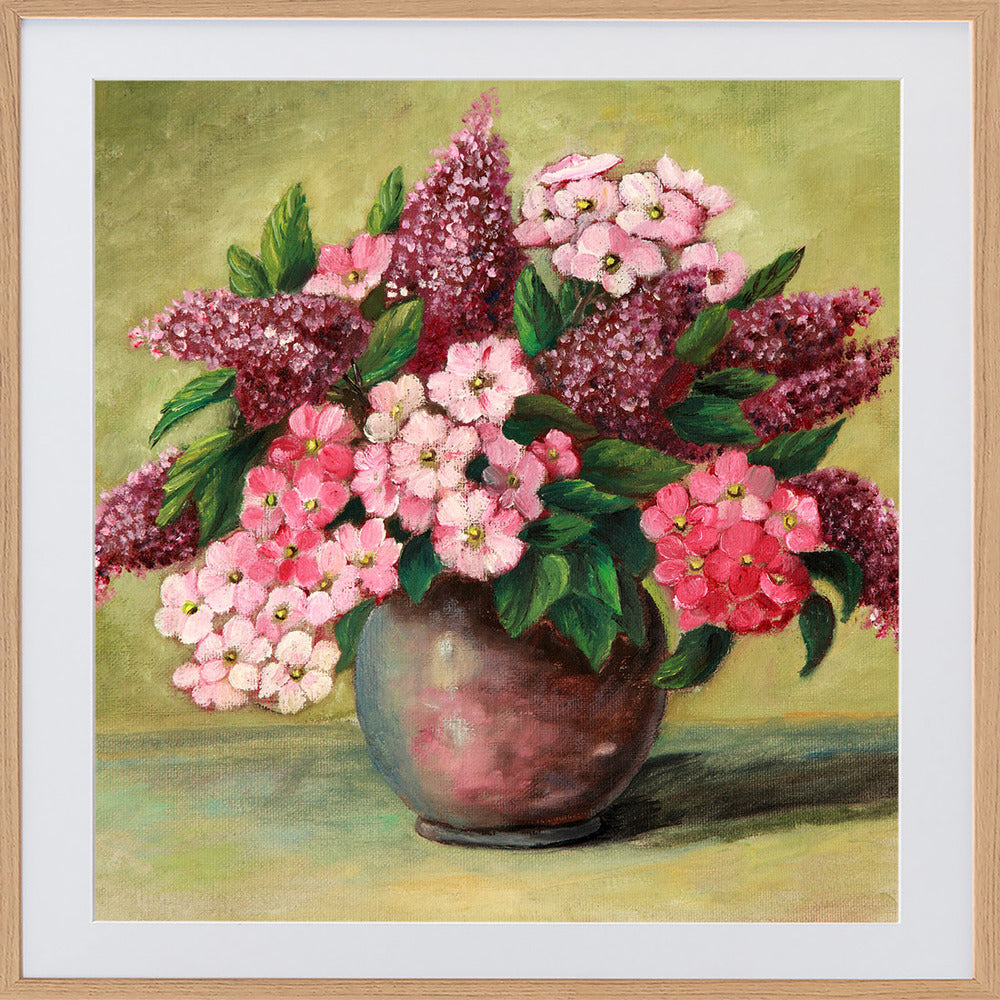 Lilacs and Phlox Framed Print