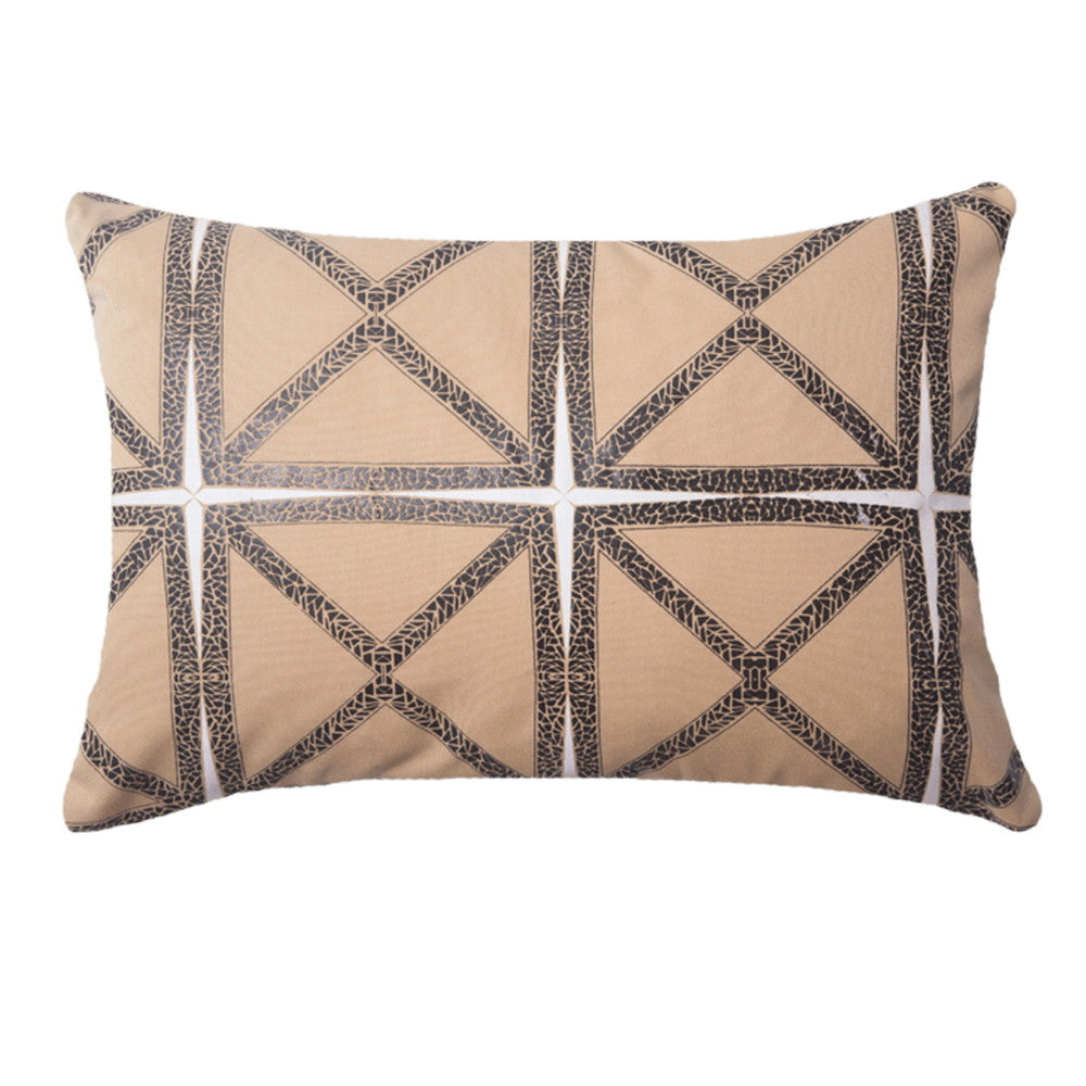 Mosaic Beige Outdoor Rectangular Cushion