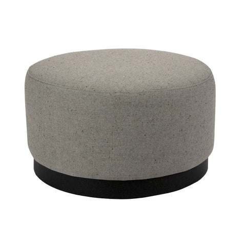Tribeca Ottoman Grey with Dark Base Large