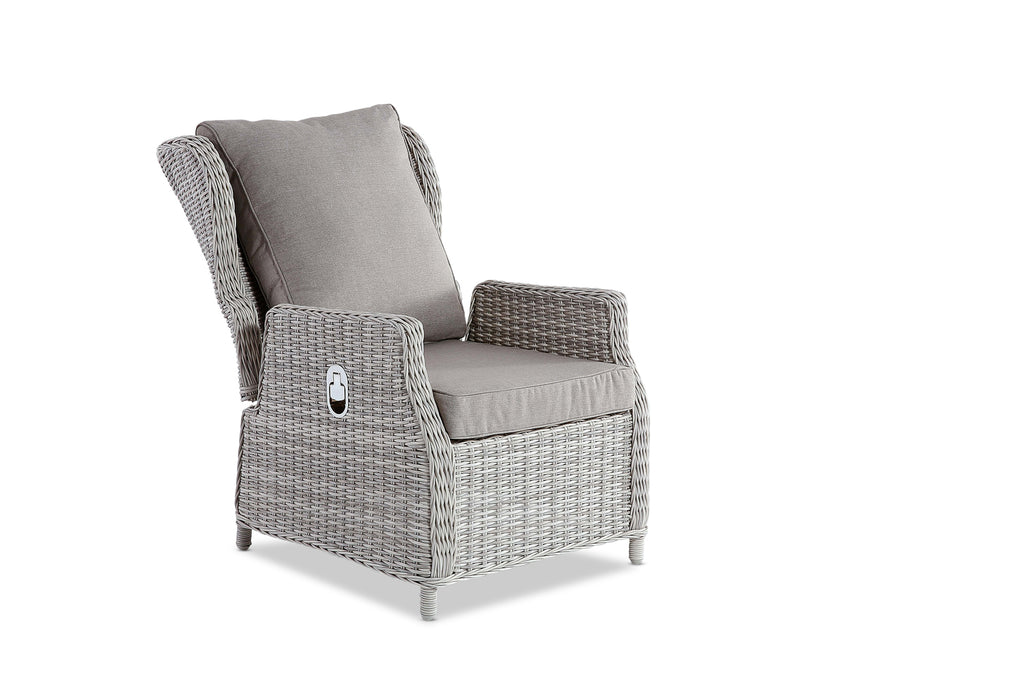 Picture of: Aegean Outdoor Reclining Chair Weathered Grey Interiors Online