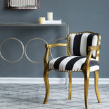 Striped Winged Armchair