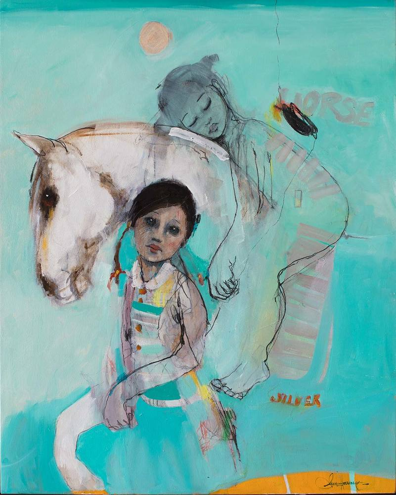 First Pony Limited Edition Print By Juli Hutchings
