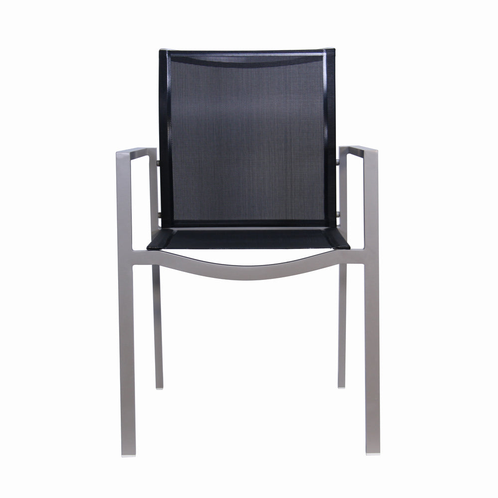 Male Lime Indoor/Outdoor Dining Chair Black And Taupe