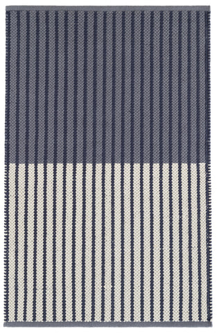 Graham Navy Cotton Rug