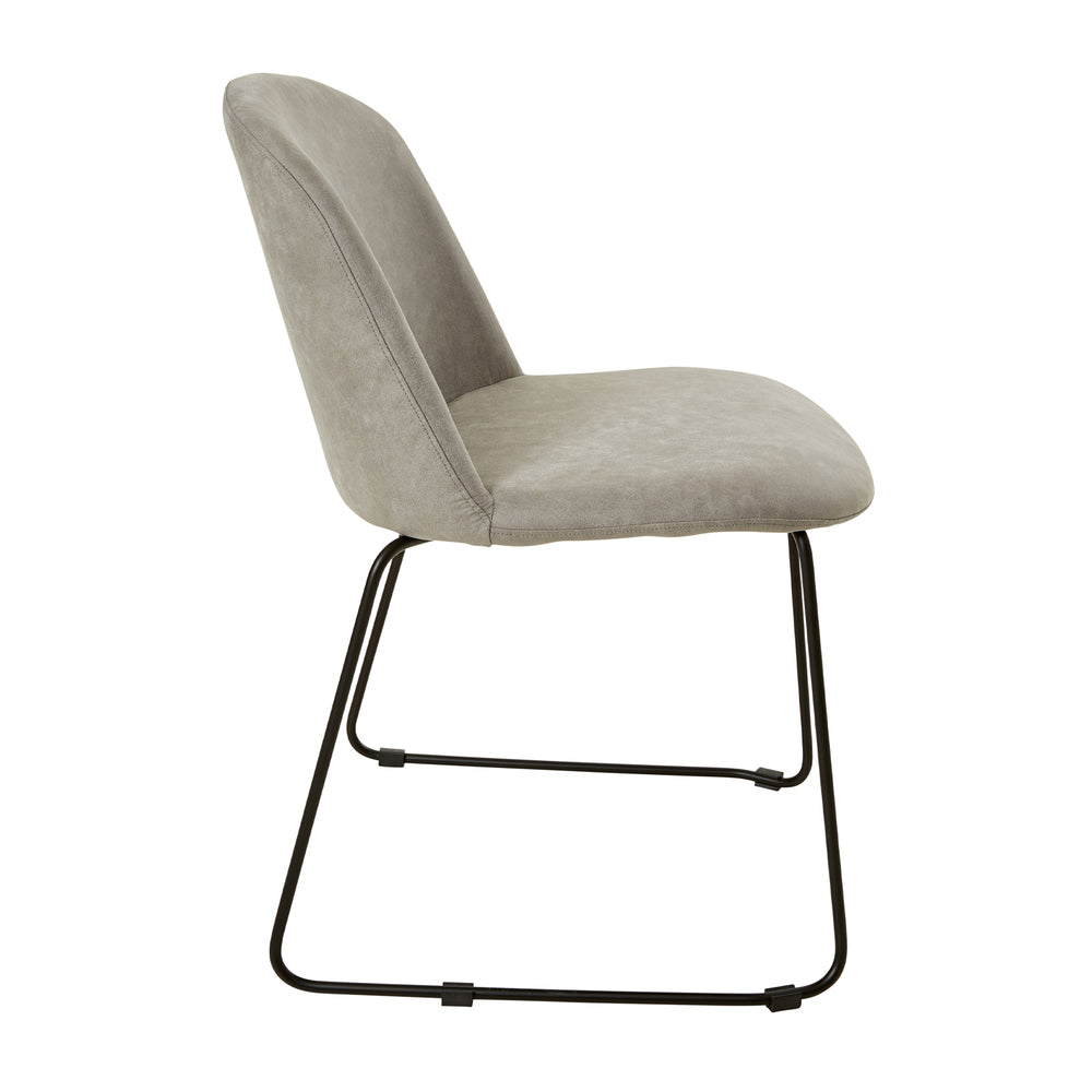 Lander Dining Chair Stone Wash Light Grey