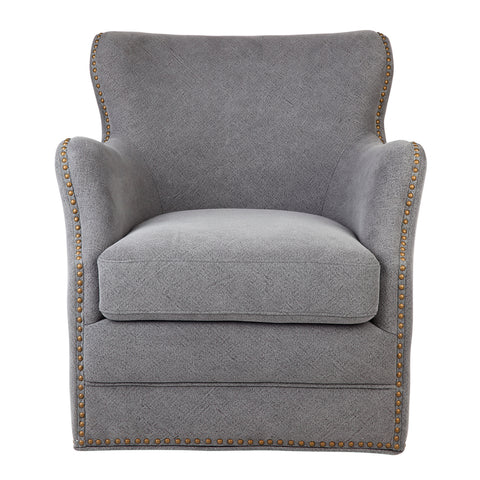 Martin Swivel Arm Chair Grey