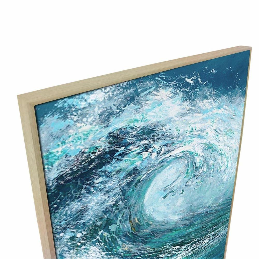 BIg Break Canvas Painting with Floating Frame