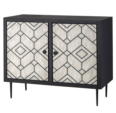Chitrita Bone Inlay Console Grey