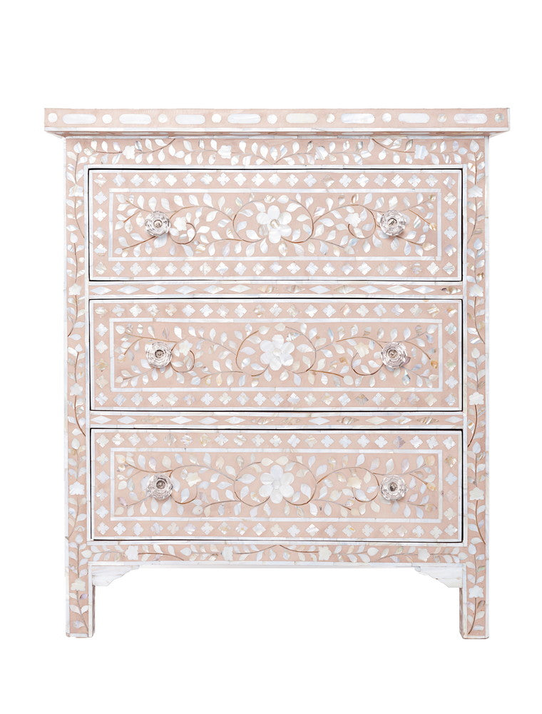 Camilla Mother of Pearl Inlay Small Chest Floral Blush