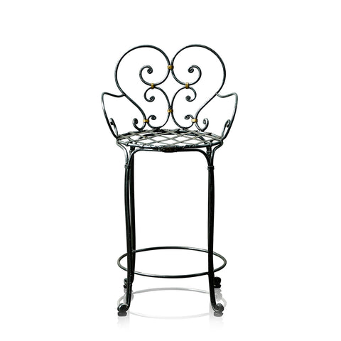 Lou Lou Wrought Iron Bar Stool