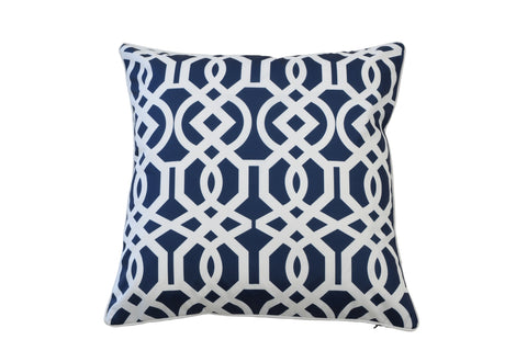 Fleur Flower Cushion Blue
