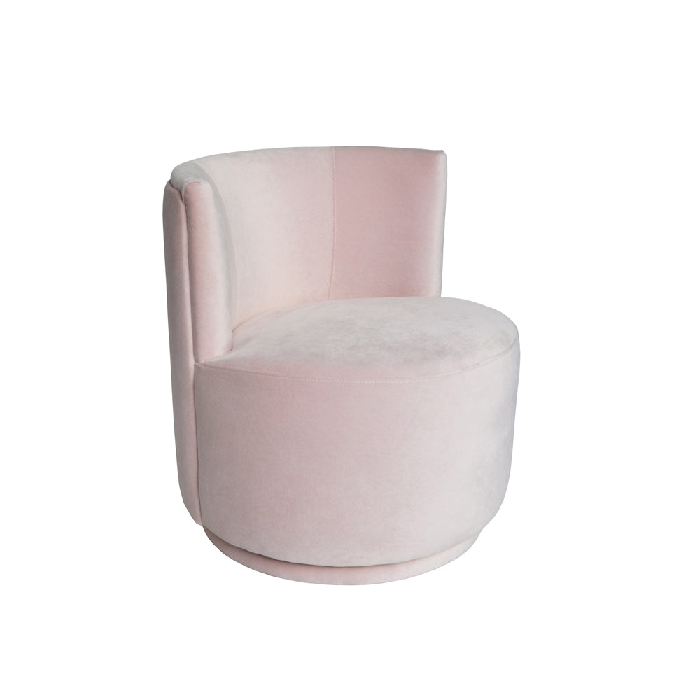 Penelope Swivel Chair Baby Pink