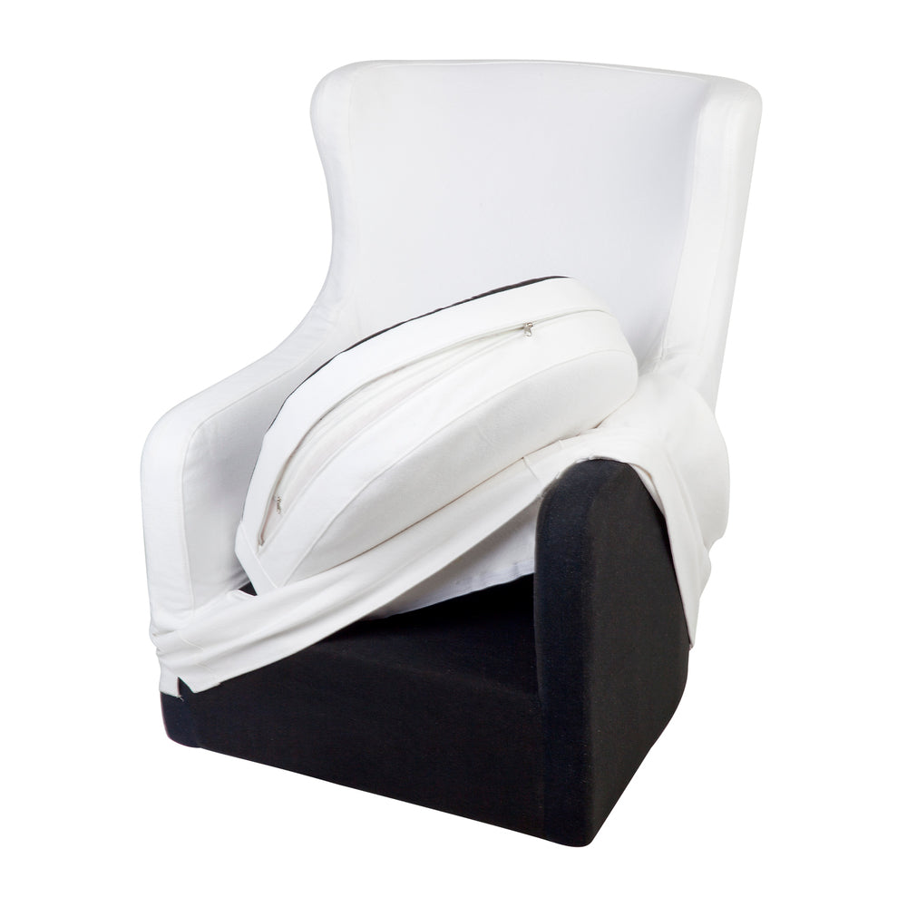 Bronte Swivel Slipcover Armchair White