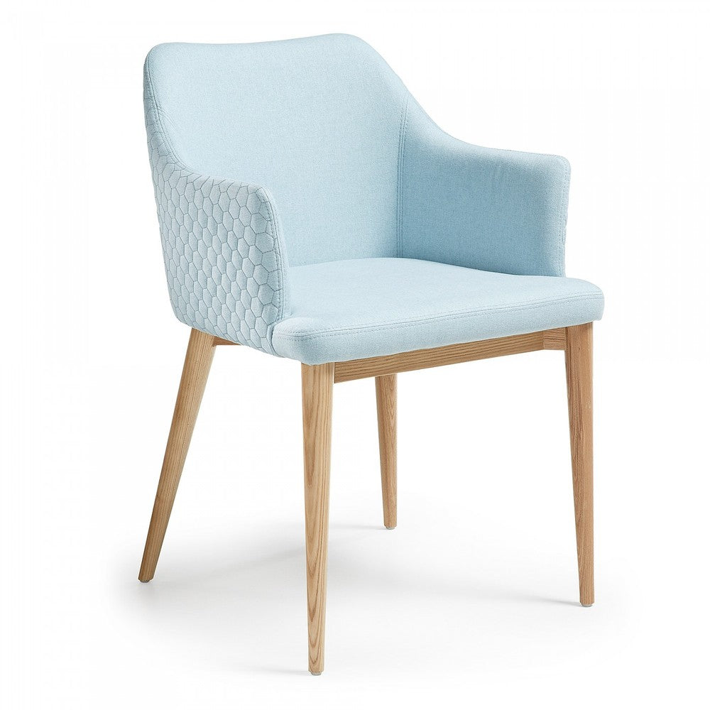 Anna Quilted Dining Chair Turquoise