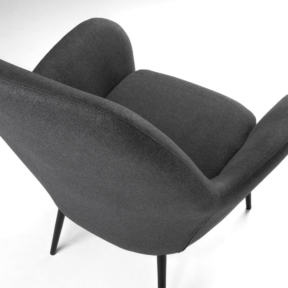 Valois Arm Chair Dark Grey