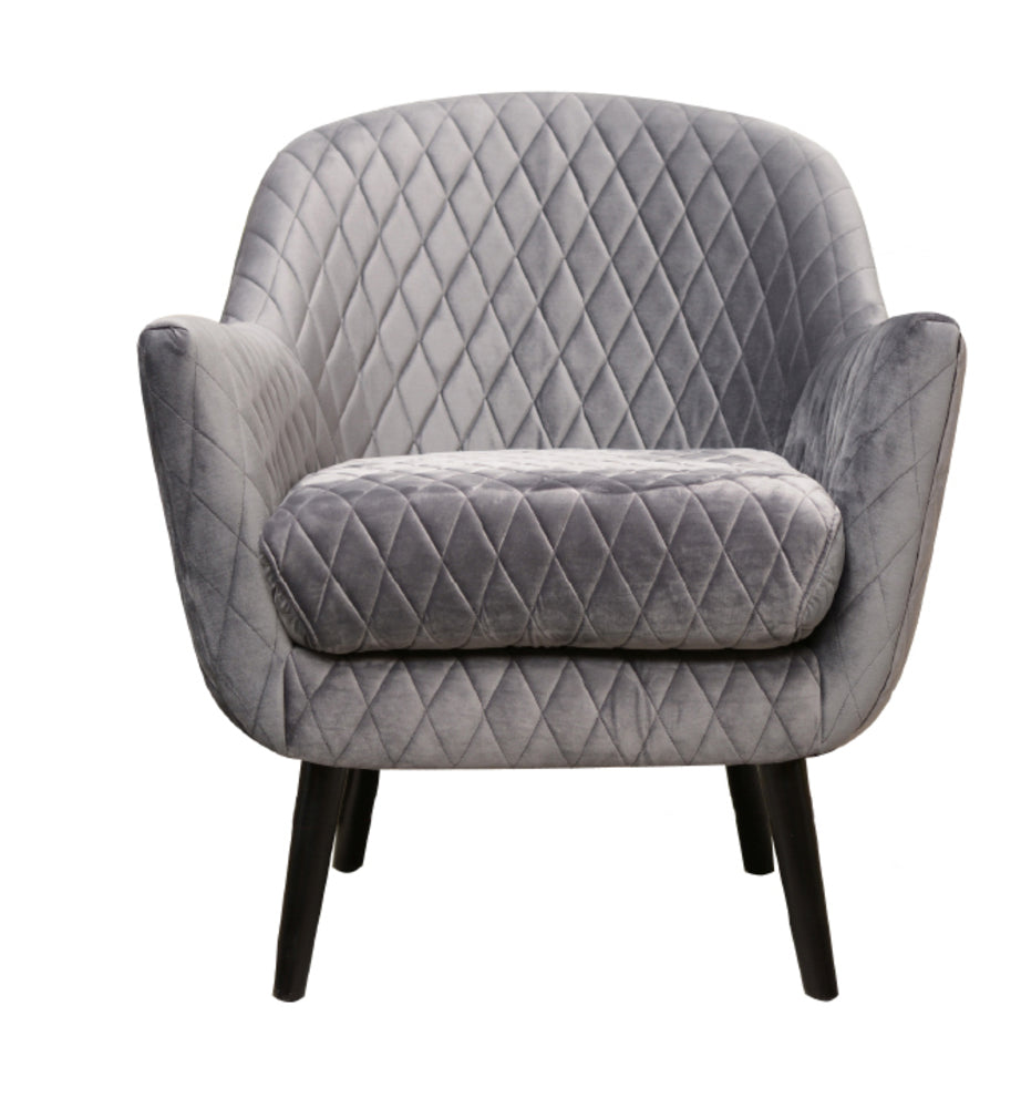 Club Chair Pebble Grey with Black Legs