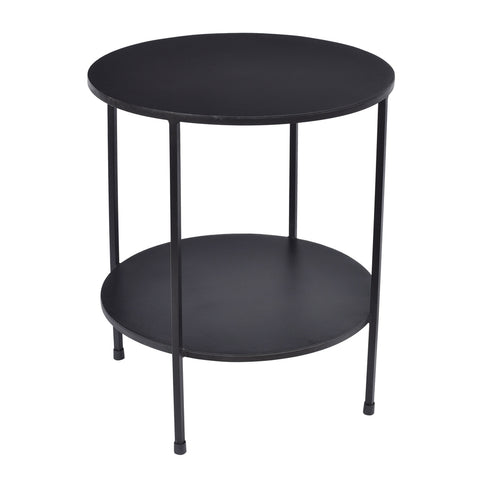 Benny 2 Tiered Side Table Silver