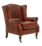 Vintage Leather High Street Wingback