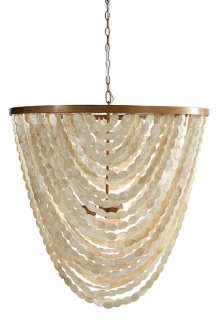Oyster Oval Shell Chandelier Small