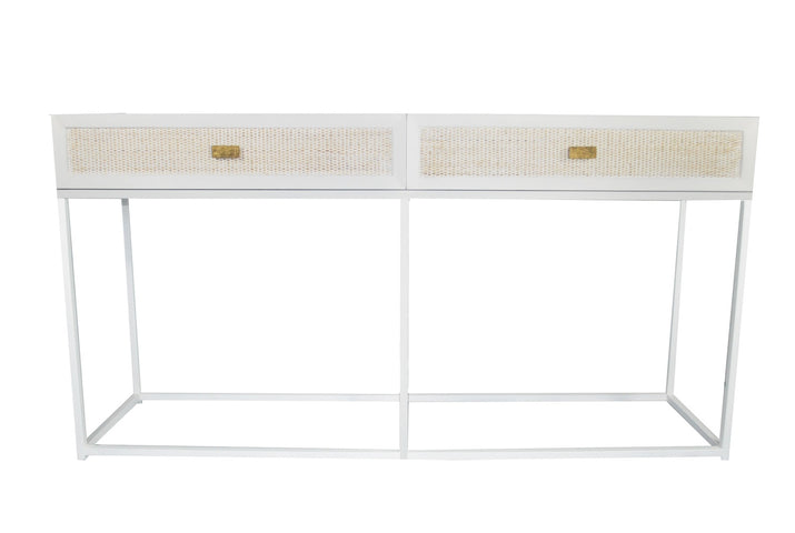 Sunshine Rattan Console Table