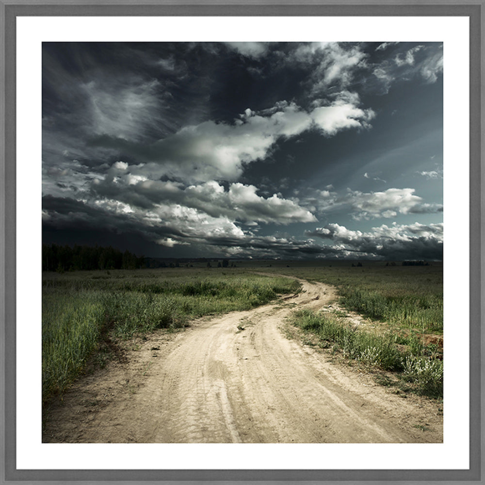 Road In Field Framed Photographic Print