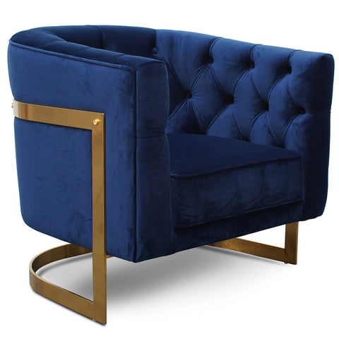Fairfax Armchair Blue Velvet