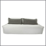 Leroy White Sofa With Black & White Cushions