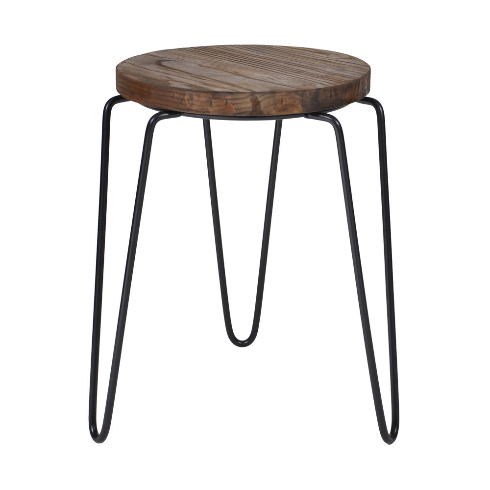 Tripod Iron Stool Black