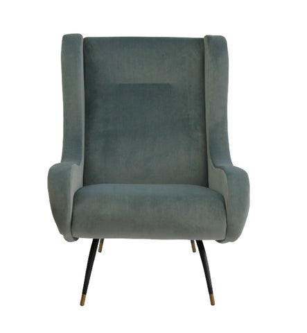 Milan Verona Chair Steel Blue