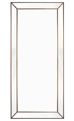 Zeta Floor Mirror Antique Gold