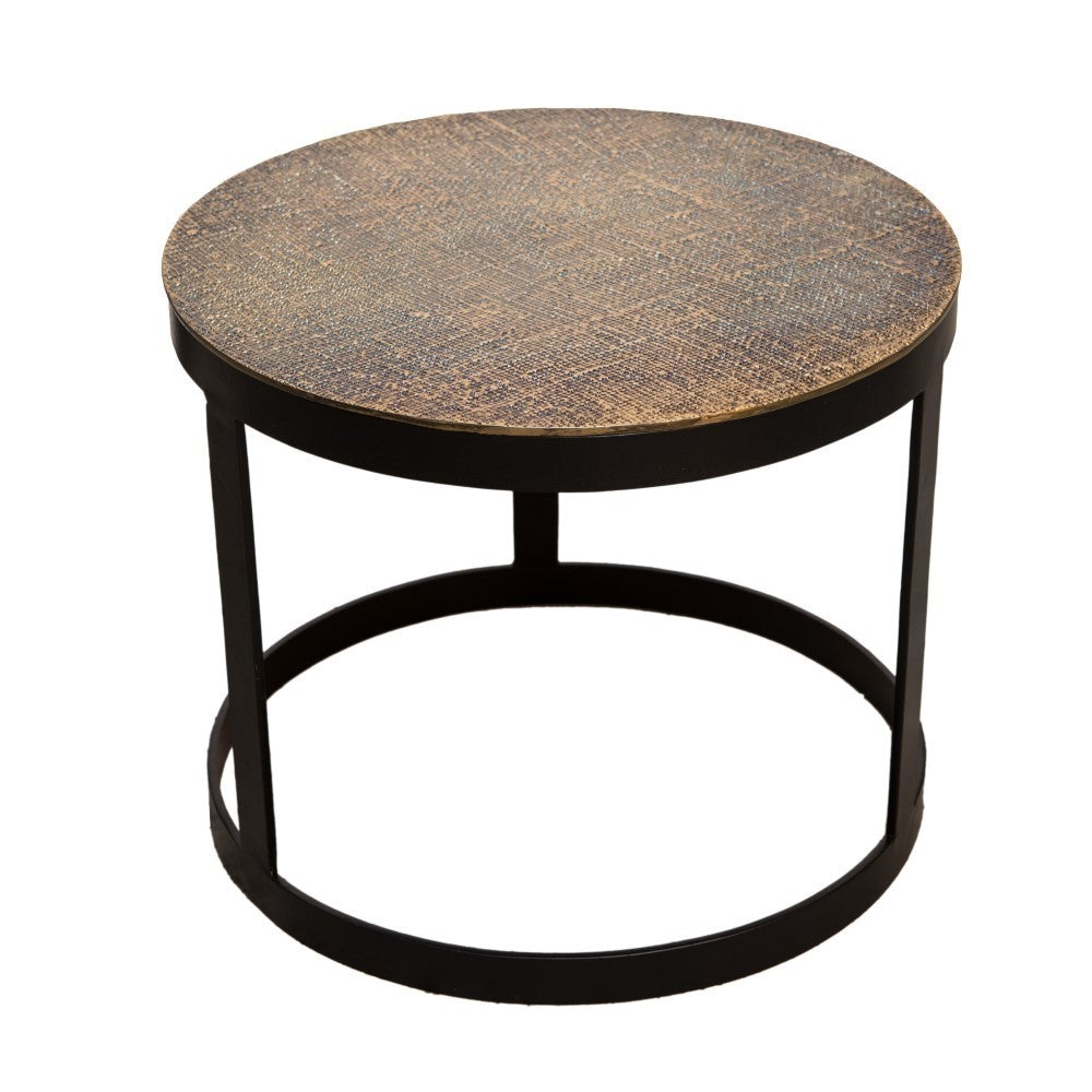 Malaga Nesting Tables Set/2 Antique Brass