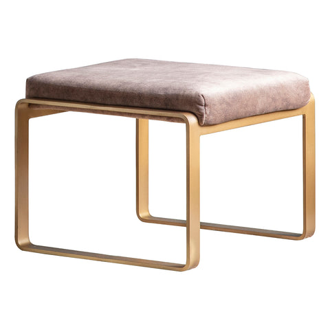 Paxton Ottoman/Low Stool Black with Gold Base