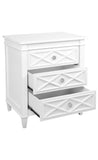 Noosa Bedside Table White Large