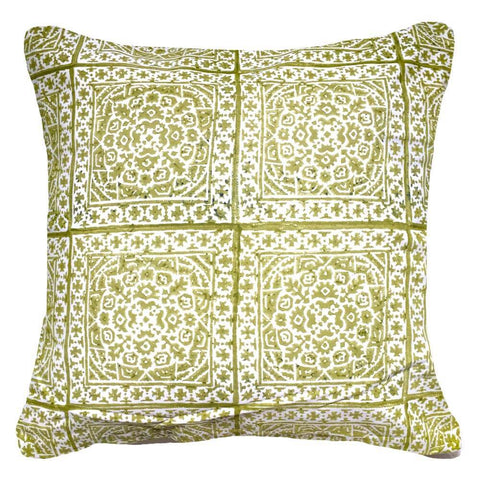 Kilim Repeat Sage Lounge Cushion