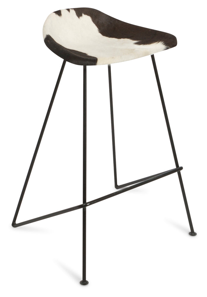 Archie Cowhide Bar Stool