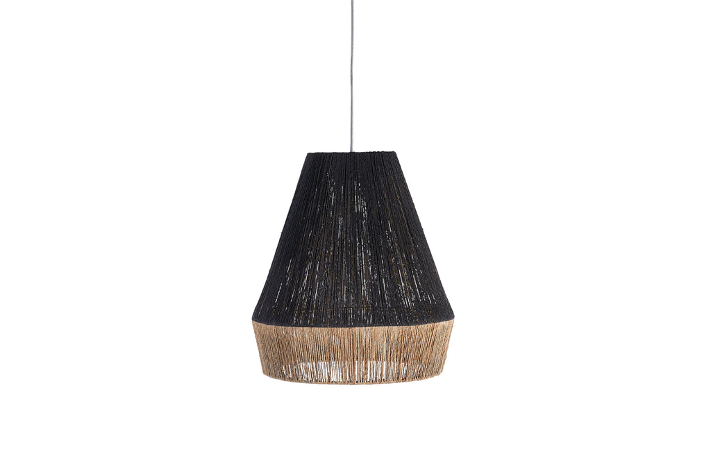 Levu Jute Pendant Shade Black and Natural