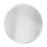 Avenue Round Mirror White