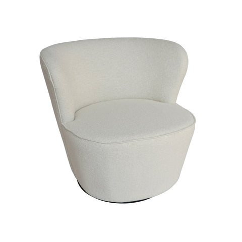 Maxwell Swivel Chair Textured Pearl