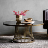Edna Coffee Table Antique Brass