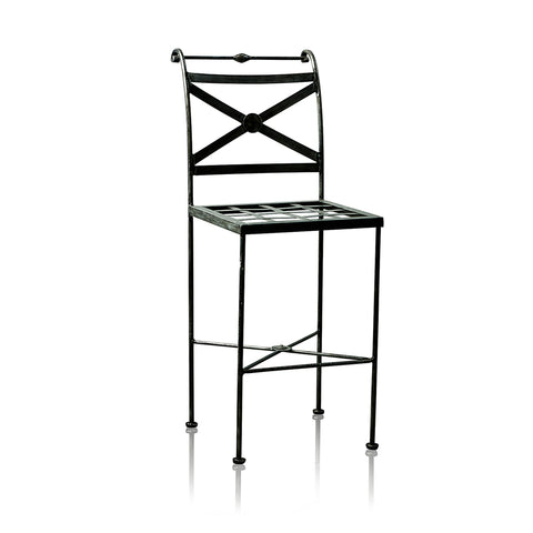 Napoli Wrought Iron Bar Stool